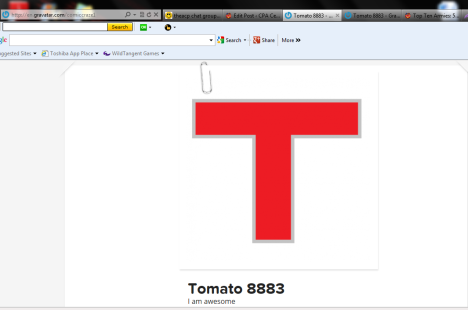 Tomato's profile from the HSA site.