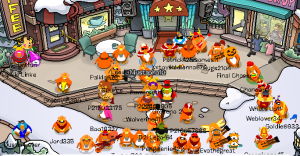 The Doritos gather in the town after (I believe) the event.