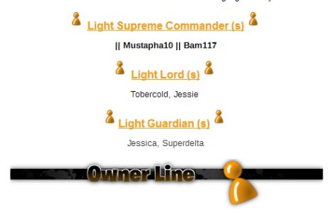 The new Light Troops ownership.