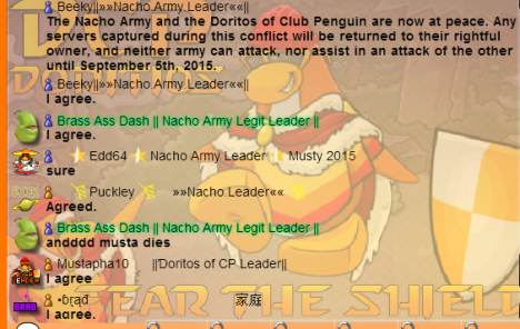 The Armistice signed between Nachos and DCP.