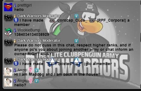 Dark Warriors Chat AFK