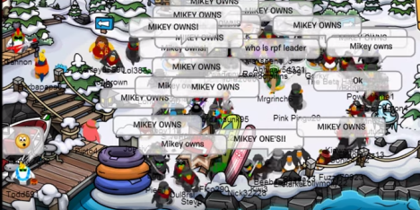 The Rebel Penguin Federation pay tribute to Elmikey.